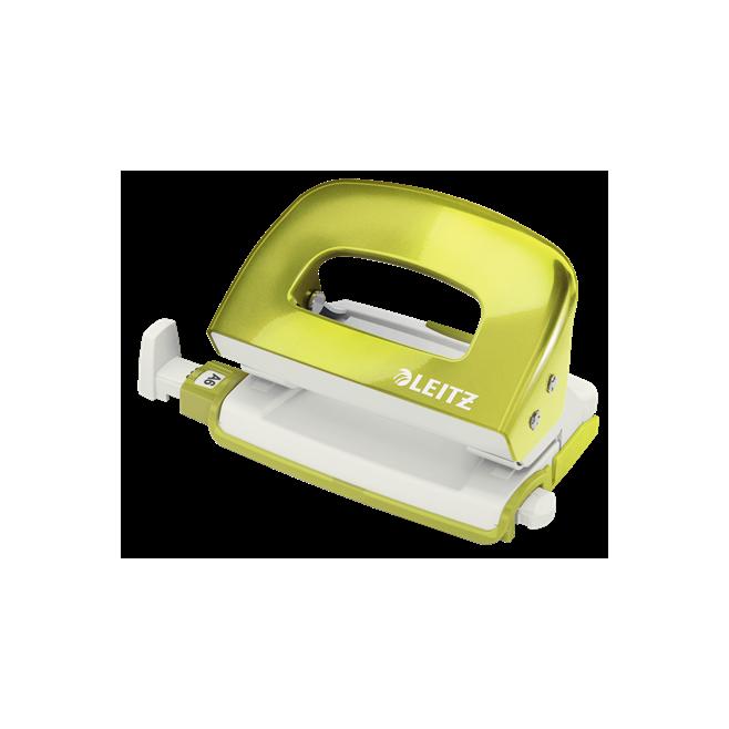 Dziurkacz mini metalowy Leitz WOW - zielony metaliczny