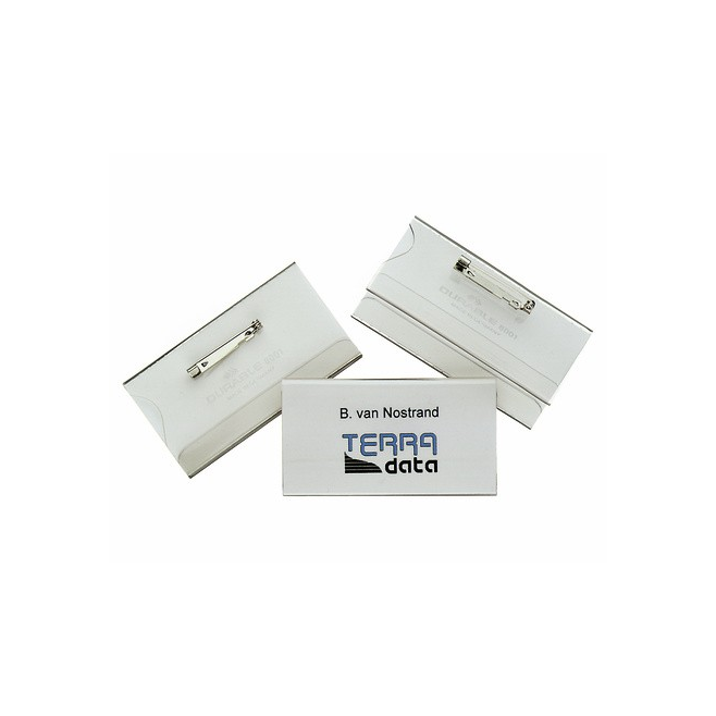 Identyfikator z agrafką - 40 x 75 mm /5szt