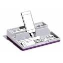 Przybornik na biurko VARICOLOR - ciemnofioletowy