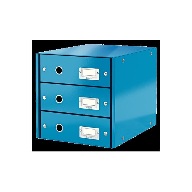 Pojemnik z 3 szufladami Leitz C&S WOW, niebieski