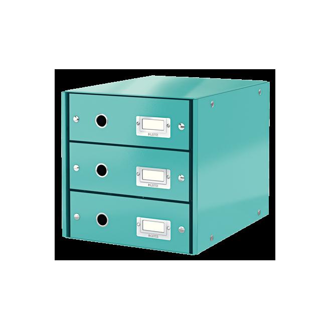 Pojemnik z 3 szufladami Leitz C&S WOW, turkusowy