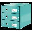 Pojemnik z 3 szufladami Leitz Click & Store WOW - turkusowy