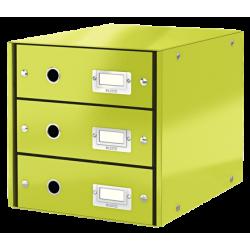 Pojemnik z 3 szufladami Leitz Click & Store WOW - jasnozielony