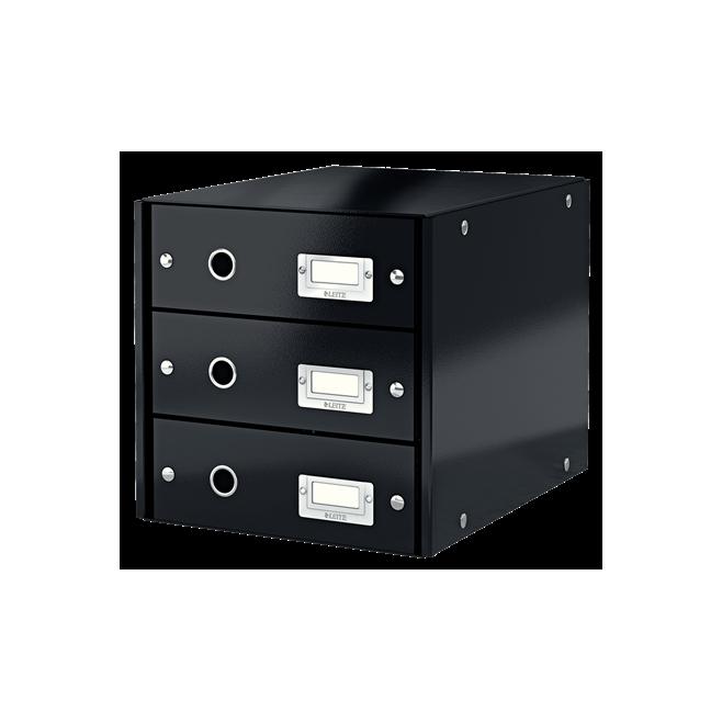 Pojemnik z 3 szufladami Leitz Click & Store, czarny
