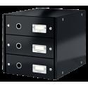 Pojemnik z 3 szufladami Leitz Click & Store - czarny