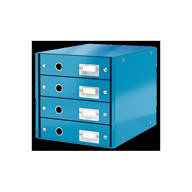 Pojemnik z 4 szufladami Leitz C&S WOW - niebieski