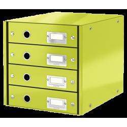 Pojemnik z 4 szufladami Leitz WOW Click & Store - jasnozielony