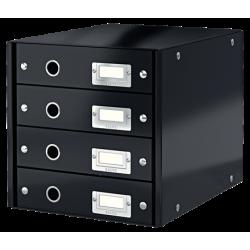 Pojemnik z 4 szufladami Leitz Click & Store - czarny