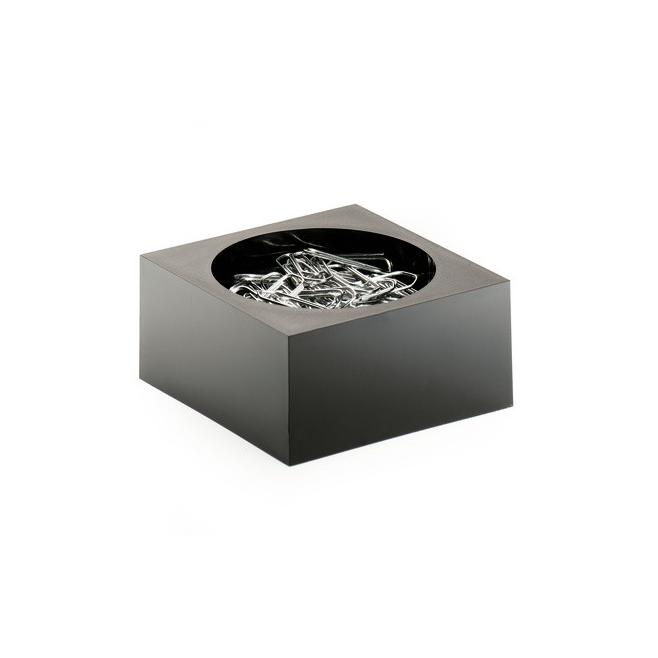 Pojemnik na spinacze CUBO - czarny