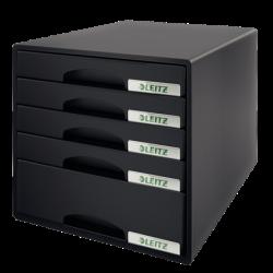 Pojemnik z 5 szufladami Leitz PLUS - czarny