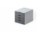 Pojemnik z 4 szufladami Durable VARICOLOR - szary