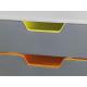 Pojemnik z czterema szufladami VARICOLOR - szary