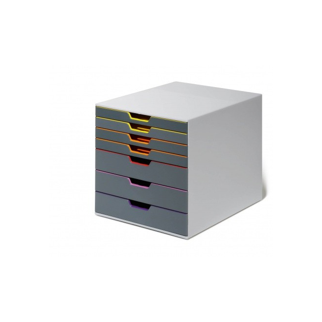 Pojemnik z siedmioma szufladami VARICOLOR - szary