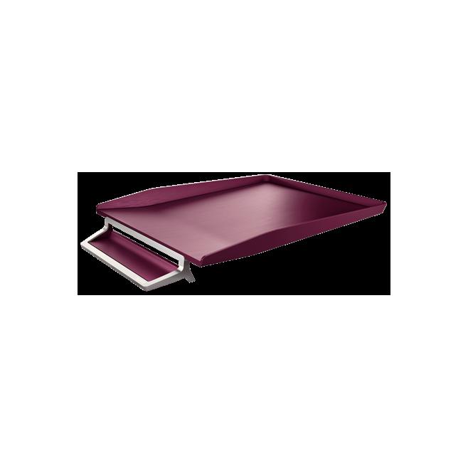 Półka na dokumenty Leitz Style z miejscem na długopis - ciemnoczerwony