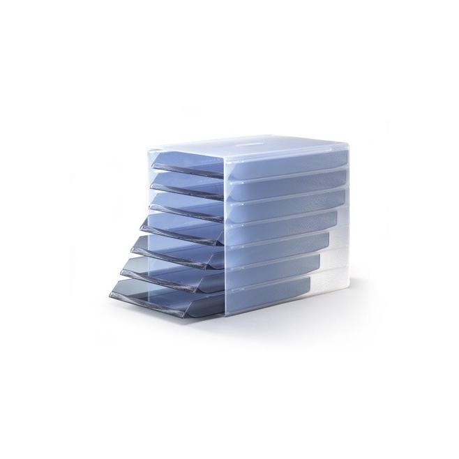 Pojemnik z siedmioma szufladami IDEALBOX - szary