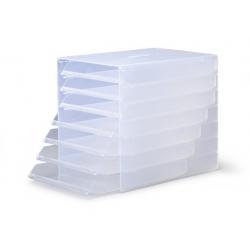 Pojemnik z siedmioma szufladami IDEALBOX - transparentny