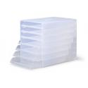 Pojemnik z 7 szufladami IDEALBOX - transparentny
