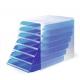 Pojemnik z siedmioma szufladami IDEALBOX - niebieski / transparentny
