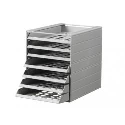 Pojemnik z 7 szufladami do montażu IDEALBOX - jasnoszary