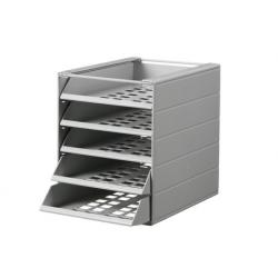 Pojemnik z 5 szufladami do montażu IDEALBOX - jasnoszary
