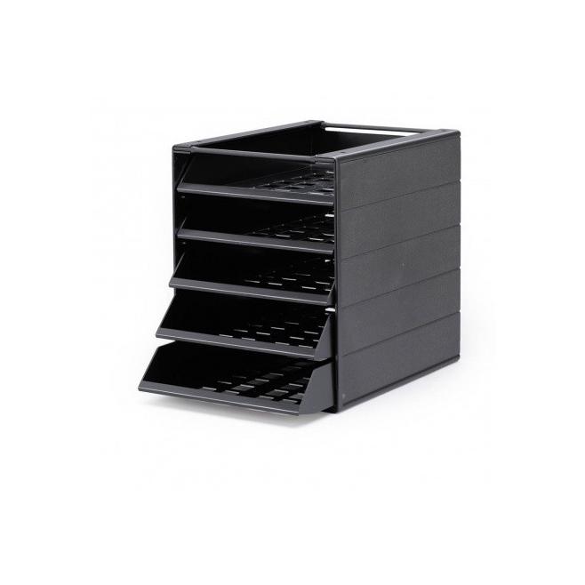 Pojemnik z pięcioma szufladami do montażu IDEALBOX - szary