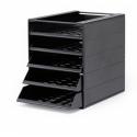 Pojemnik z 5 szufladami do montażu IDEALBOX - szary