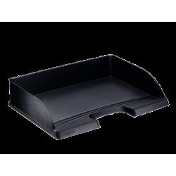 Półka na dokumenty otwarta od dłuższego boku - czarna