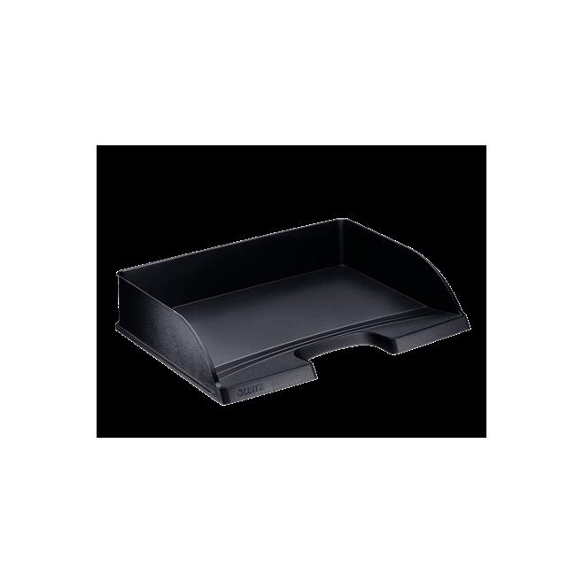 Półka na dokumenty otwarta od dłuższego boku - czarny