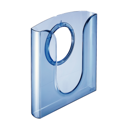Półka ścienna na katalogi Leitz - niebieska transparentna