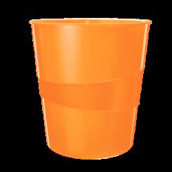 Kosze na śmieci 15L Leitz WOW - pomarańczowy