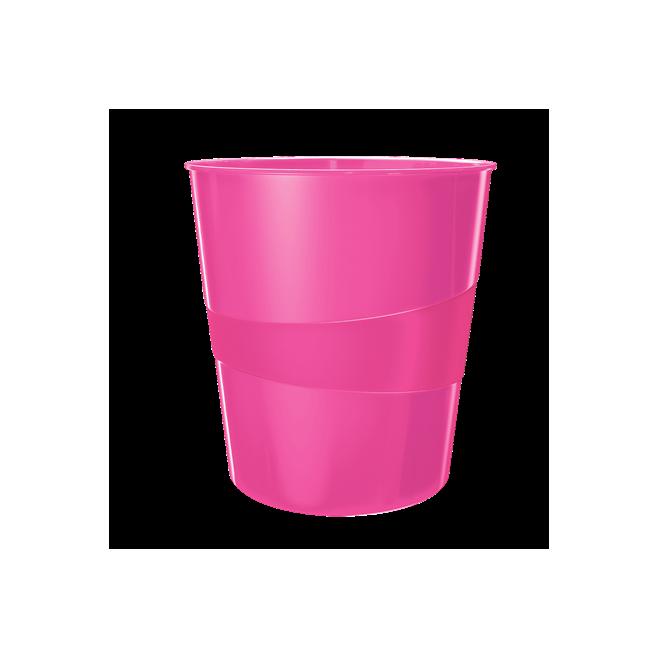 Kosze na śmieci 15L Leitz WOW - różowy