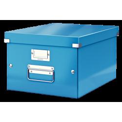 Pudło uniwersalne Leitz C&S A4 WOW - niebieskie