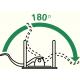 Segregator Leitz 180° z mech. 80mm - zielony