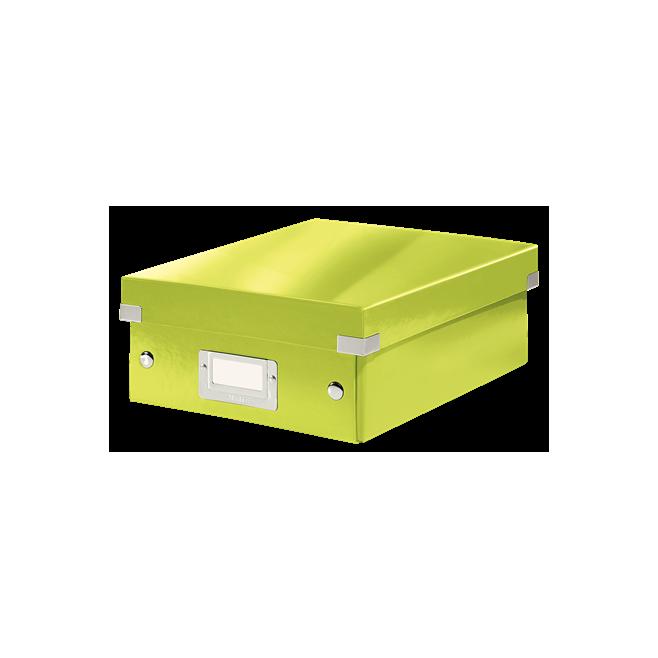 Pudło z przegródkami Leitz C&S, małe - zielony