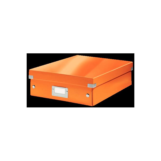 Pudło z przegródkami Leitz C&S, średnie - pomarańczowy
