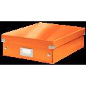 Pudło z przegródkami Leitz C&S, średnie - pomarańczowe