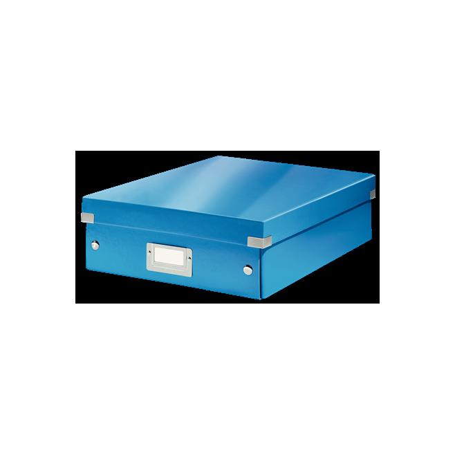 Pudło z przegródkami Leitz C&S, średnie - niebieski