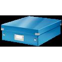 Pudło z przegródkami Leitz C&S, średnie - niebieskie