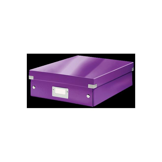 Pudło z przegródkami Leitz C&S, średnie - fioletowy