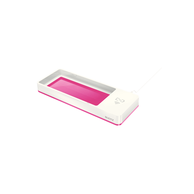 Piórnik z ładowarką indukcyjną Leitz WOW - różowy