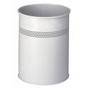 Kosz na śmieci Durable 15l - metalowy - jasnoszary