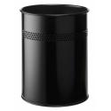 Kosz na śmieci Durable 15l - metalowy - czarny