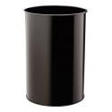 Kosz na śmieci Durable 30l - metalowy - czarny