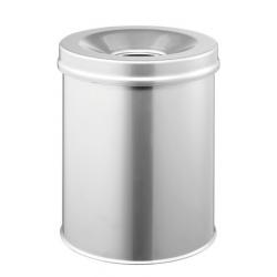 Kosz na śmieci Safe - srebrny