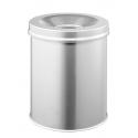 Kosz na śmieci Durable Safe 15l - metalowy - srebrny