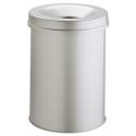 Kosz na śmieci Durable Safe 15l - metalowy - jasnoszary
