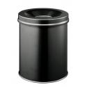 Kosz na śmieci Durable Safe 15l - metalowy - czarny