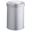 Kosz na śmieci Durable Safe 30l - metalowy - jasnoszary