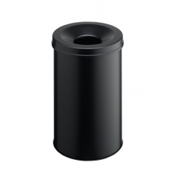 Kosz na śmieci Durable Safe 30l - metalowy - czarny