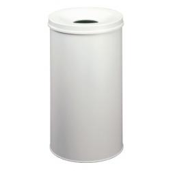 Kosz na śmieci Durable Safe 60l - metalowy - jasnoszary